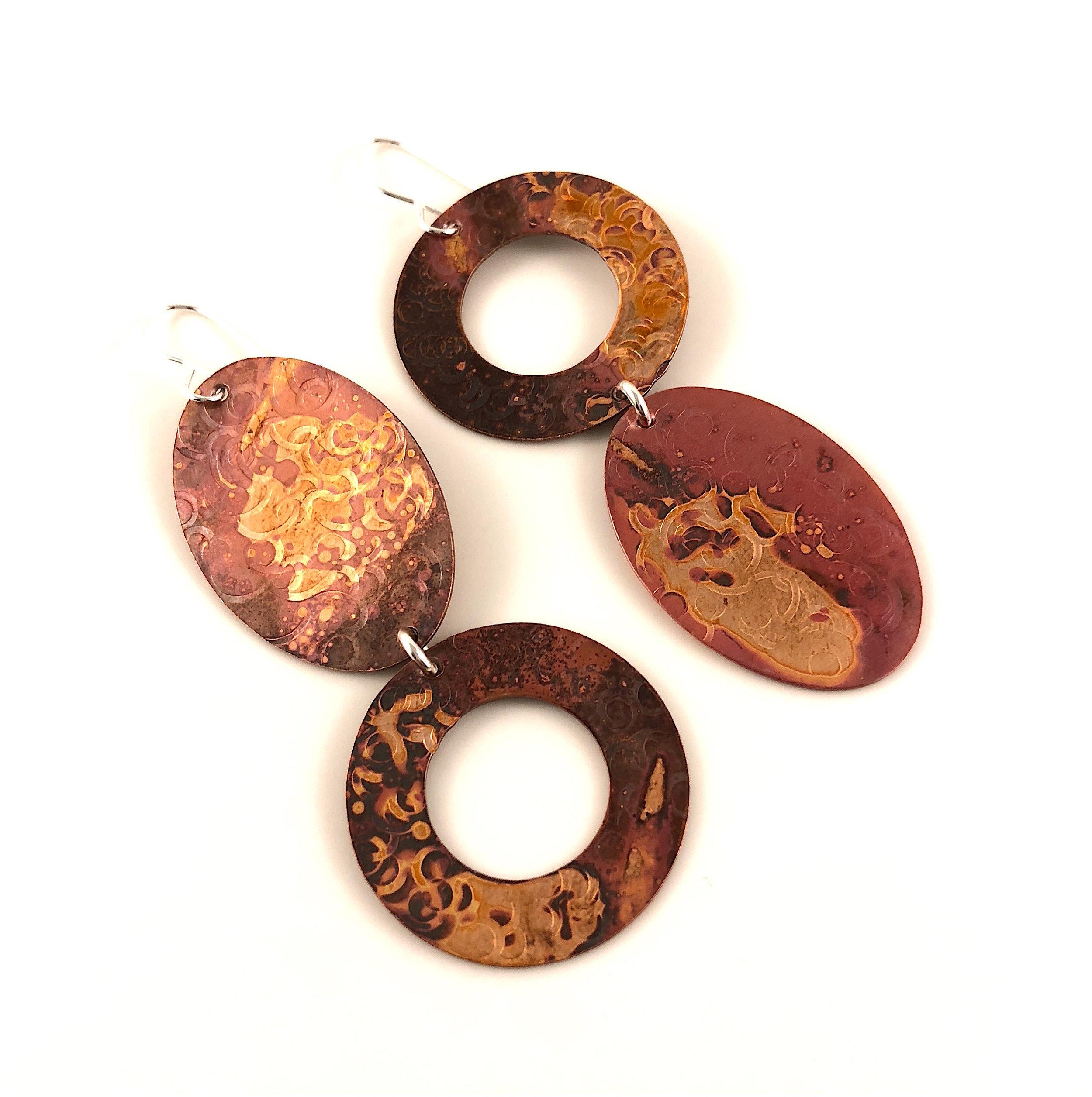 handmade copper jewelry earrings