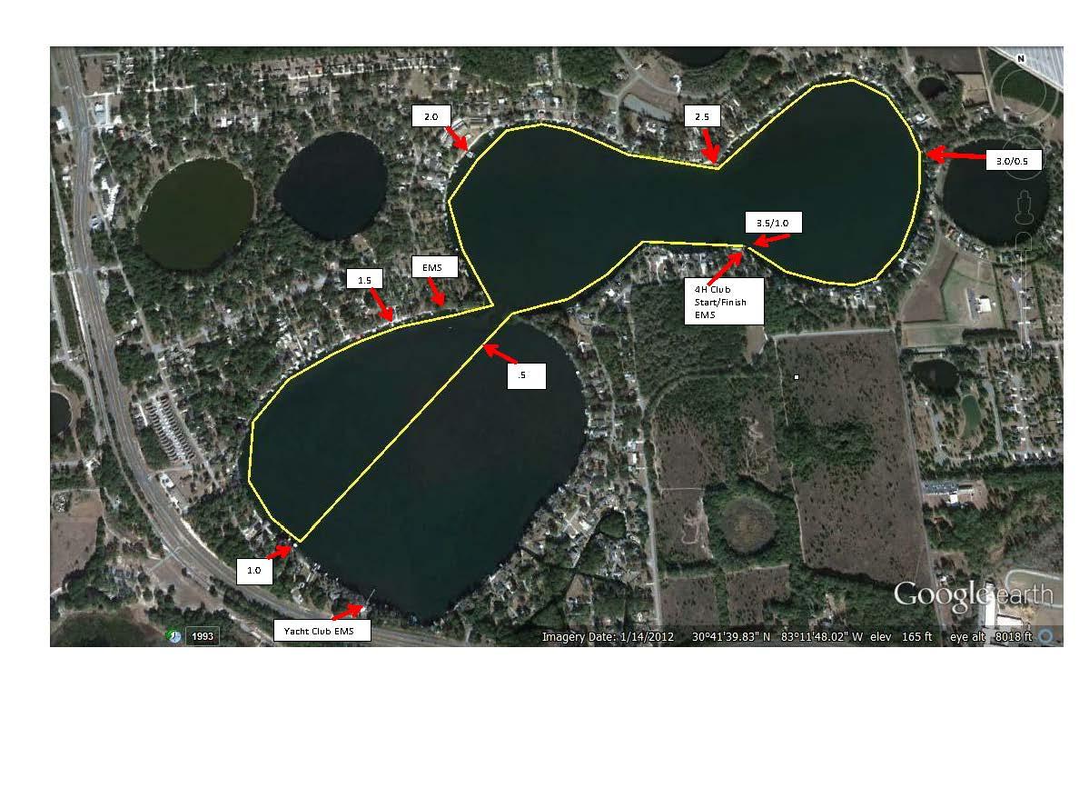 TCT7 Mile Swim Course Map