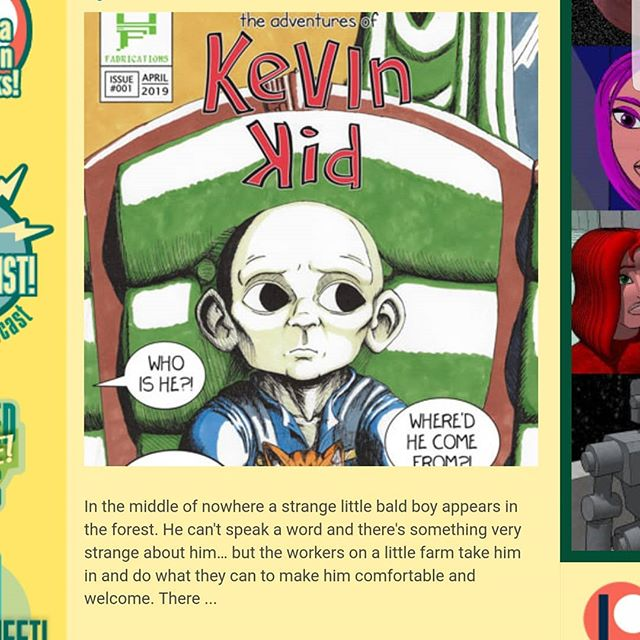 THE ADVENTURES OF KEVIN KID #1 got featured on the homepage of theduckwebcomics.com today! Hyperbolic Fabrications couldn't be happier! ISSUE ONE IS  ONLINE NOW! LINK IN BIO!!! · · · · · · #hyperbolicfabrications #comics #webcomics #comicbook #digitalcomics #artistssupportingartists #artistsofinstagram #theadventuresofkevinkid #kevinkid #dccomics #marvel #darkhorsecomics