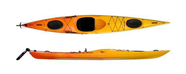 Kajak K1SEK 150.-/h - inclucing paddle, life west, wet-suit for rentbook at NORRSKEN LODGE