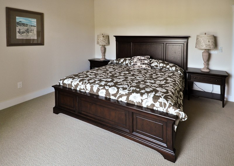 Custom bedroom with king bed