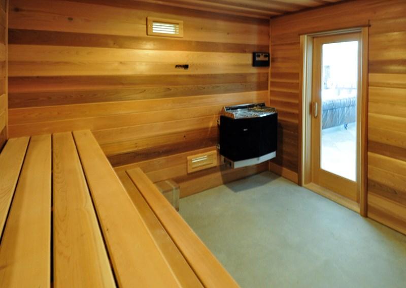 Sauna in cabana