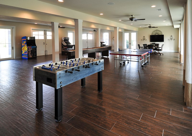 Foosball table in event space