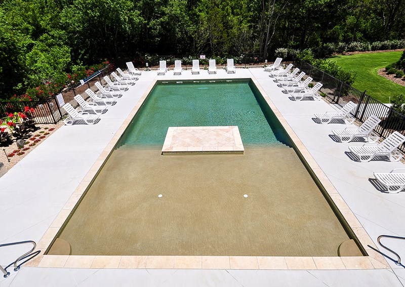 Beautiful private pool with lounge chairs