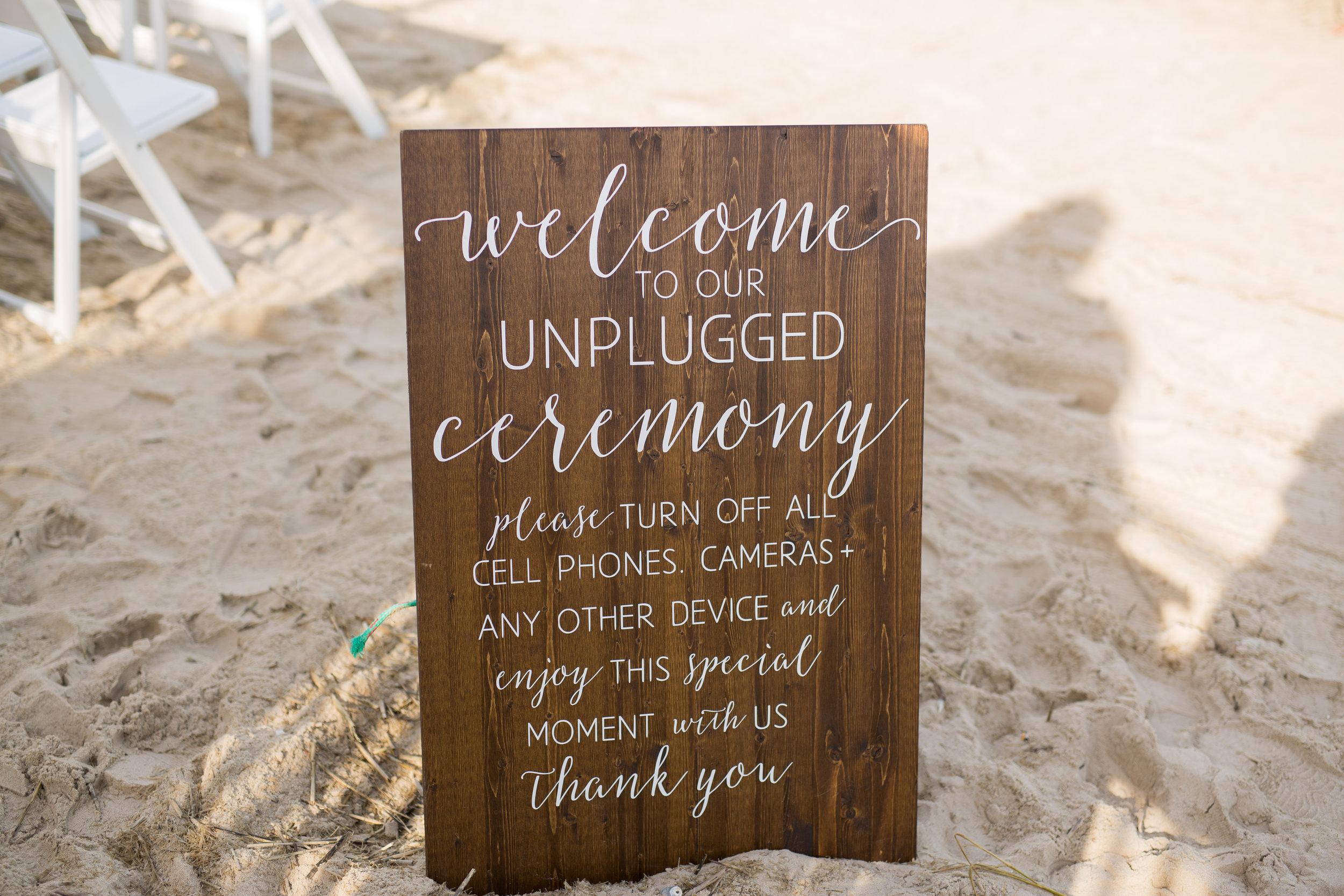 Beach Ceremony Sign