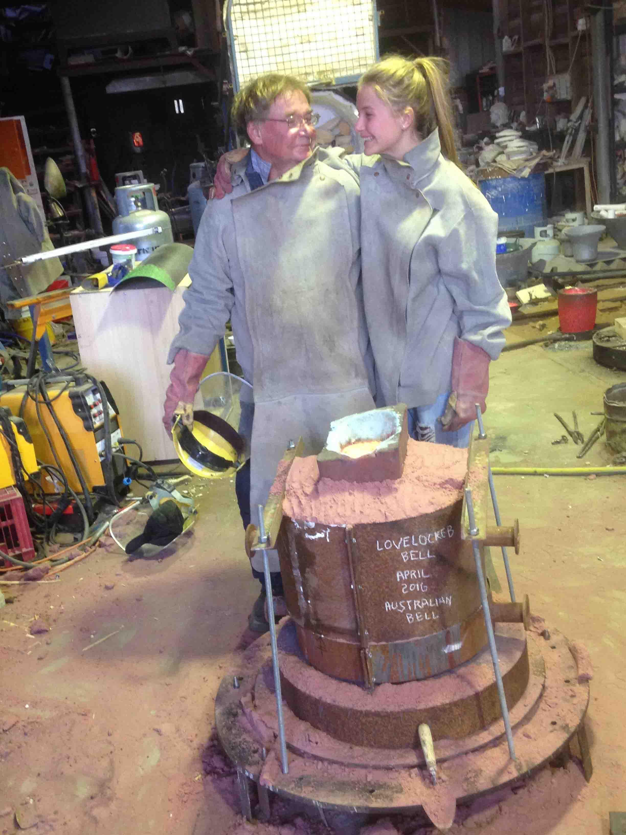 Anton and matilda casting the Lovelocked bell 2015