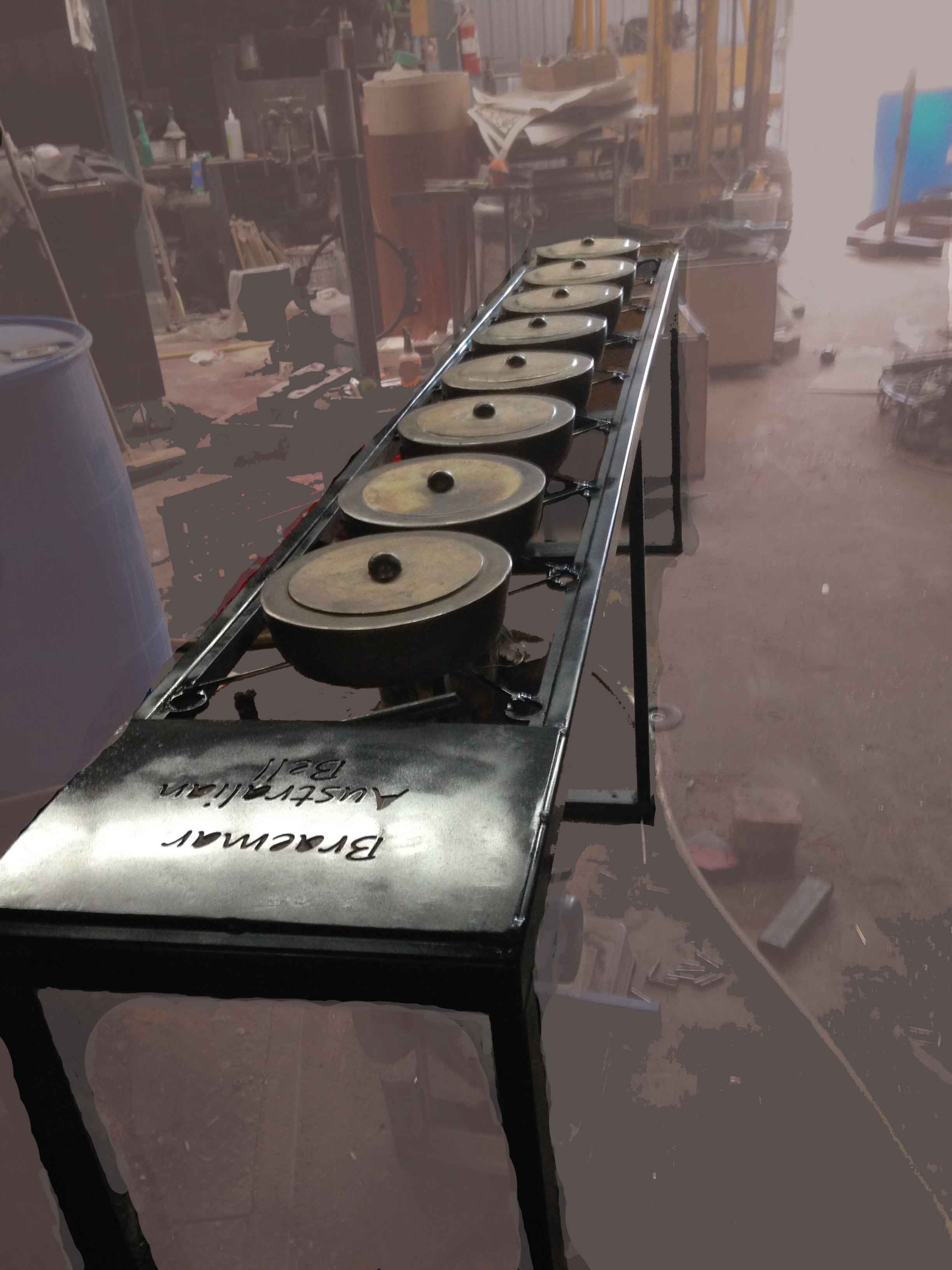 Hasell 'set of bronze gongs' Braemar College 2016
