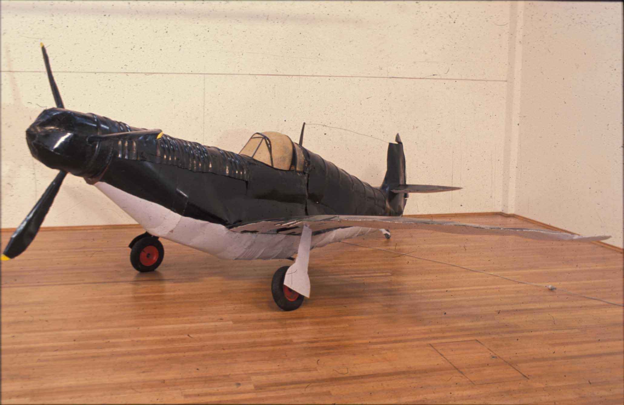 'Warplane'  1986 2m by 5m by 4.8m, steel