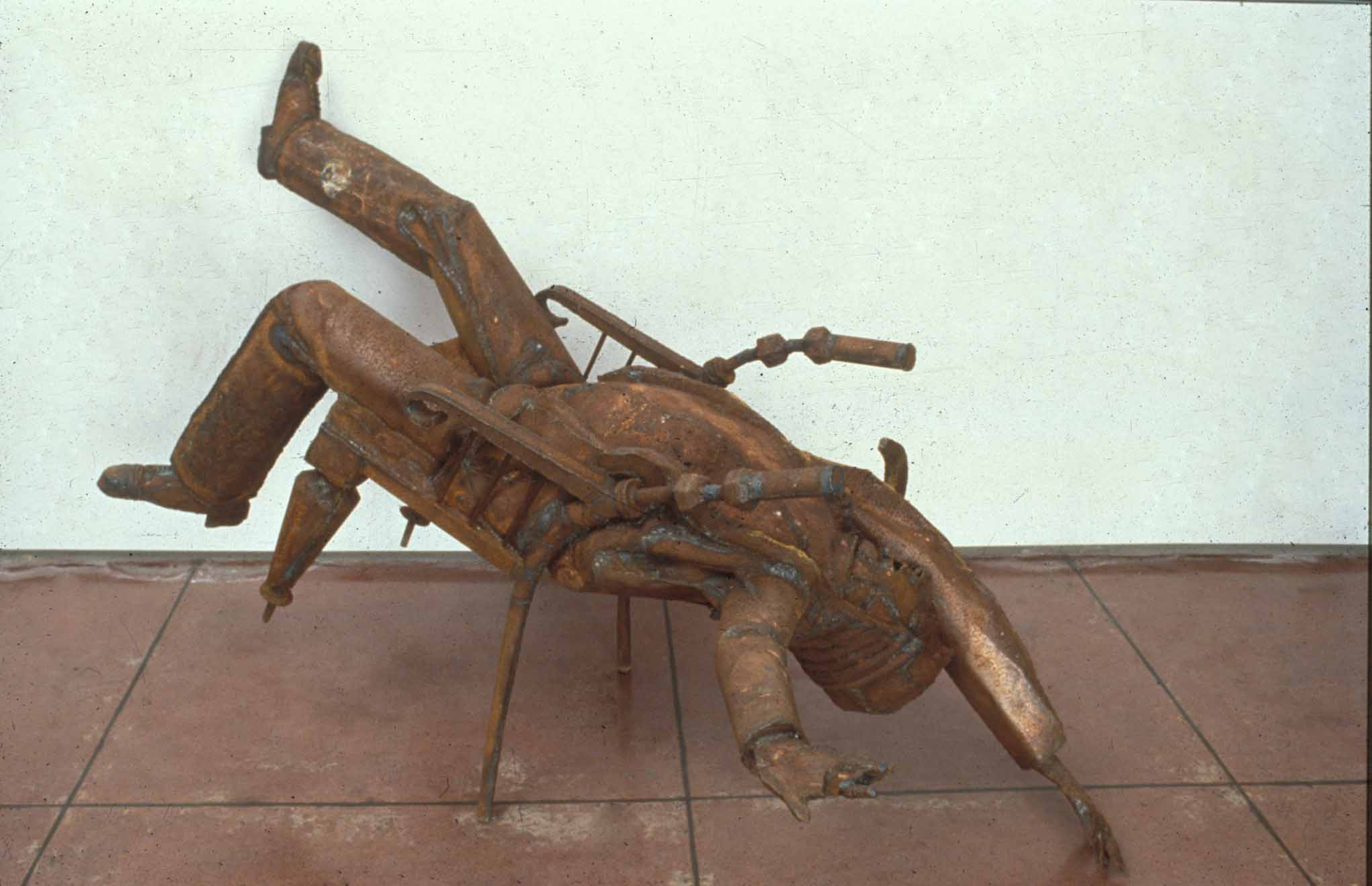 'Death of Judge Barry'  1989 1.4m by 2m by 0.7m, steel