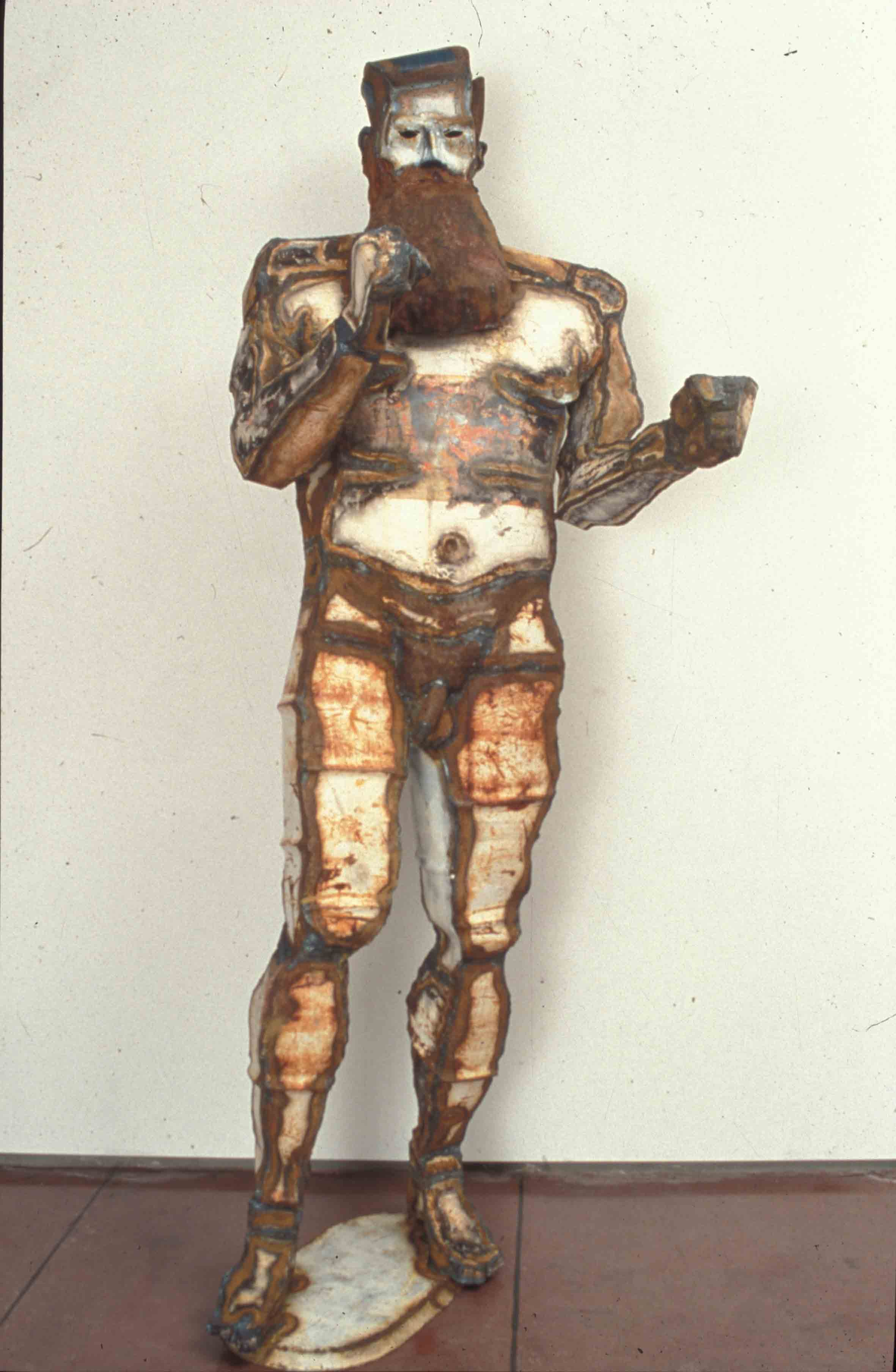 'Fighting Ned Kelly'  1989, 2.3m by 0.6m by 0.6m, steel