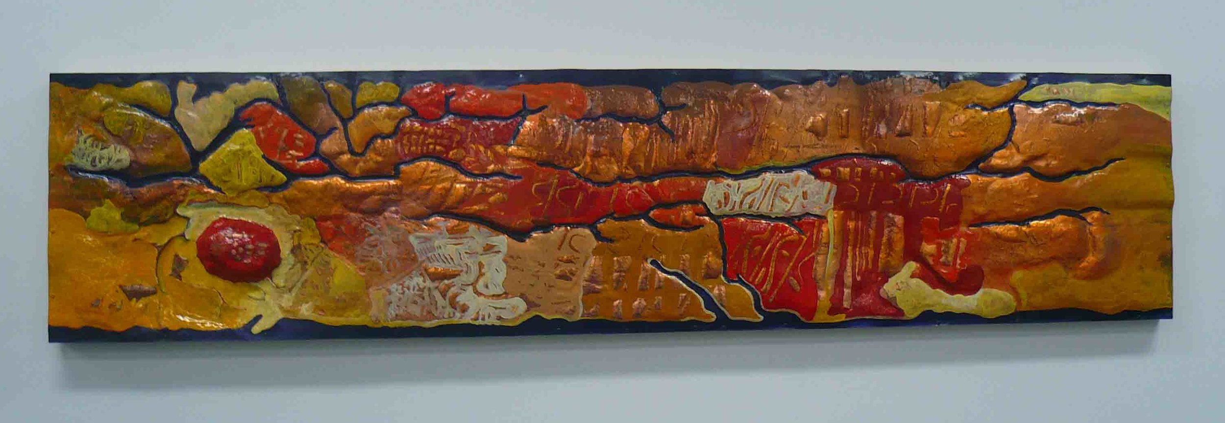 'Leichhardt's Map Alice Springs' 2010 2m by 0.6m, copper & oil paint