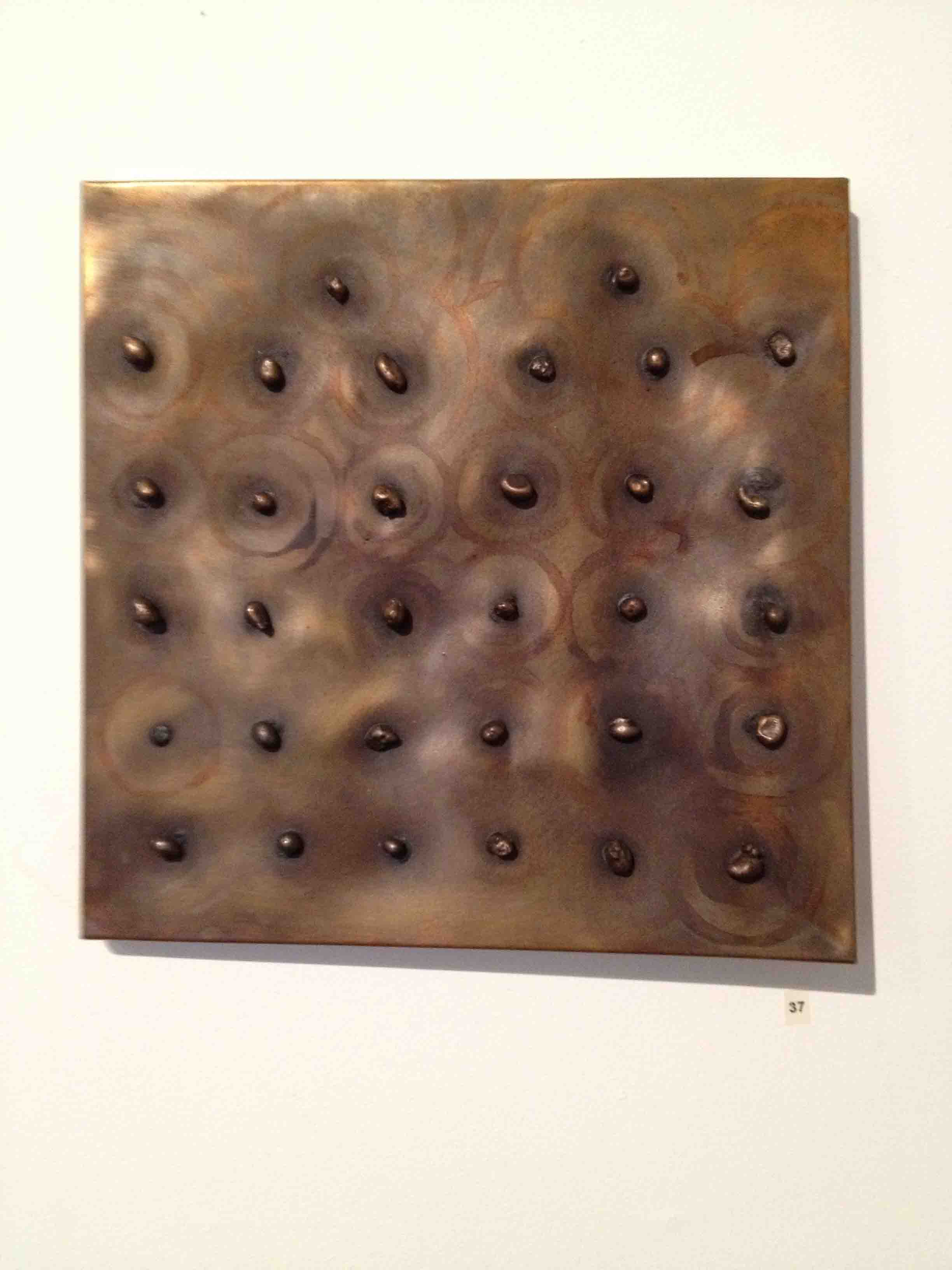 'River stones' 2013 0.2m by 0.2m copper, bronze & patina