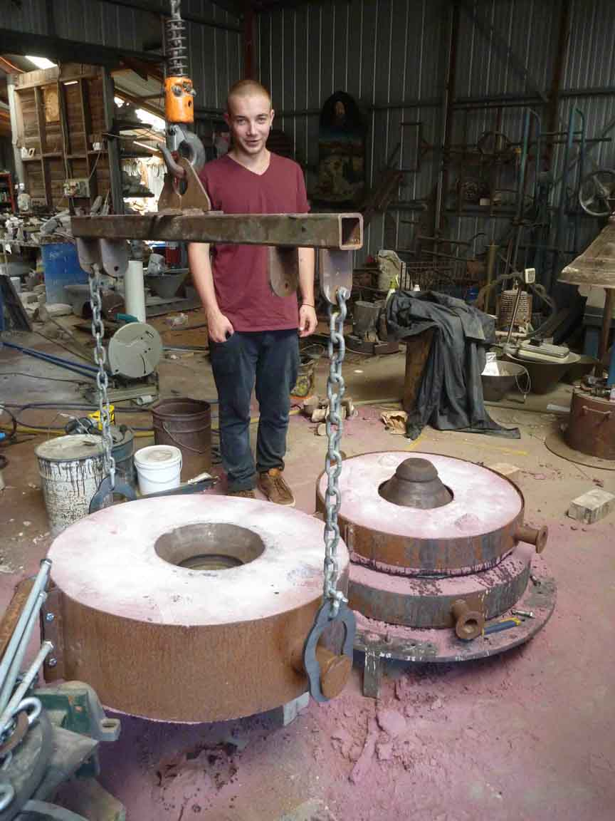 Sam Hasell working on bell mould E.jpg