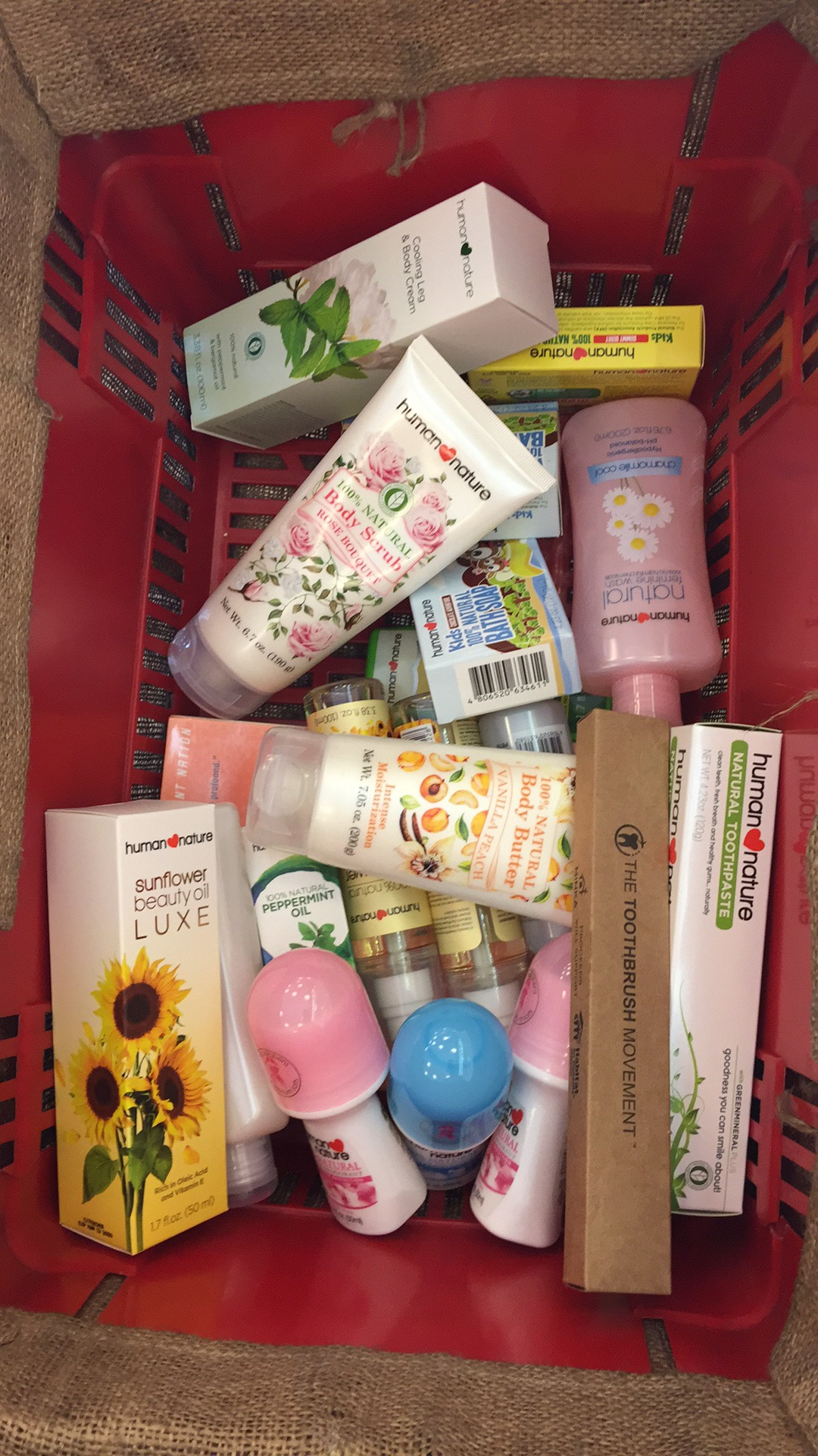 Yesterday's basket of my usual essentials