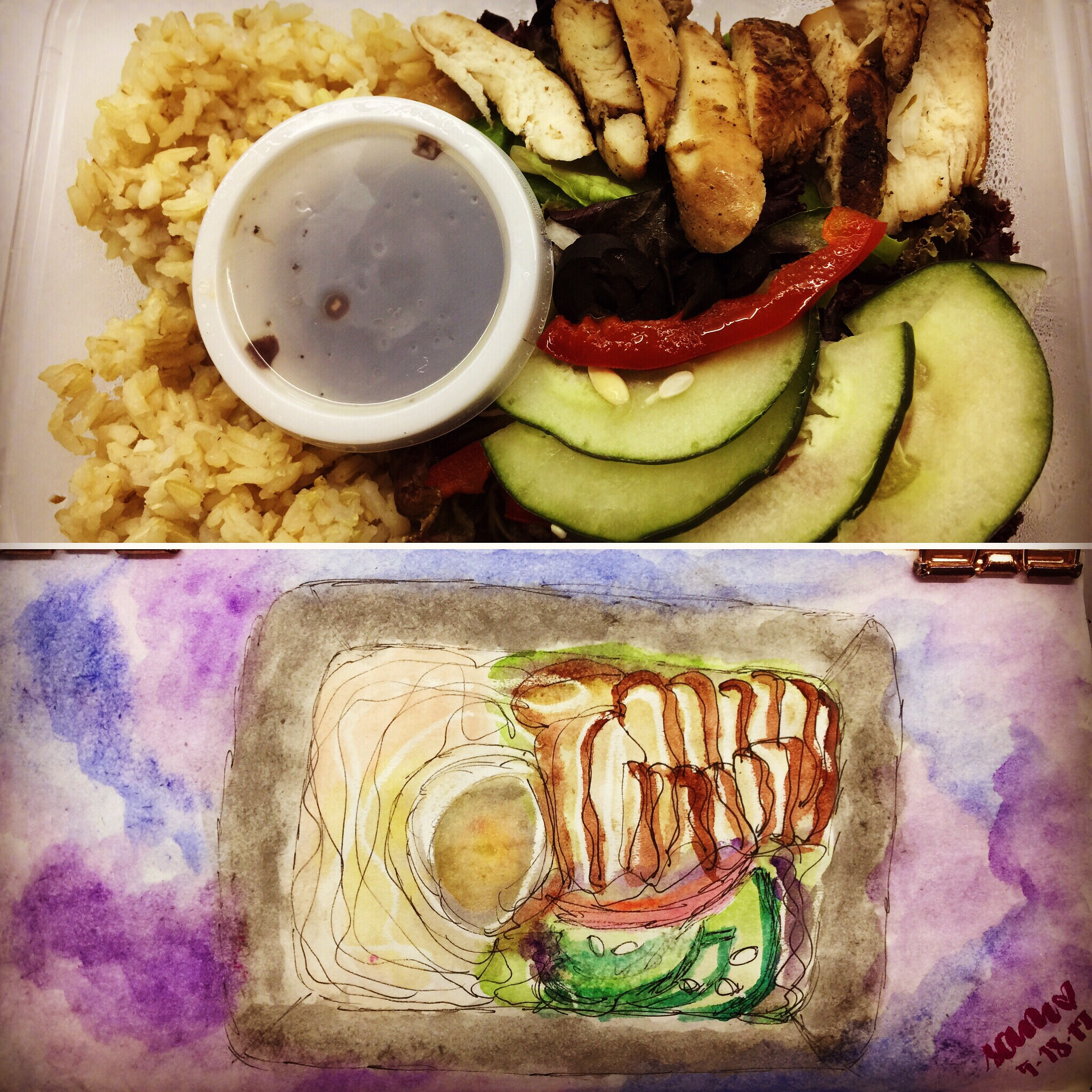 Drawing my  Lunchboxdiet  dinner last night