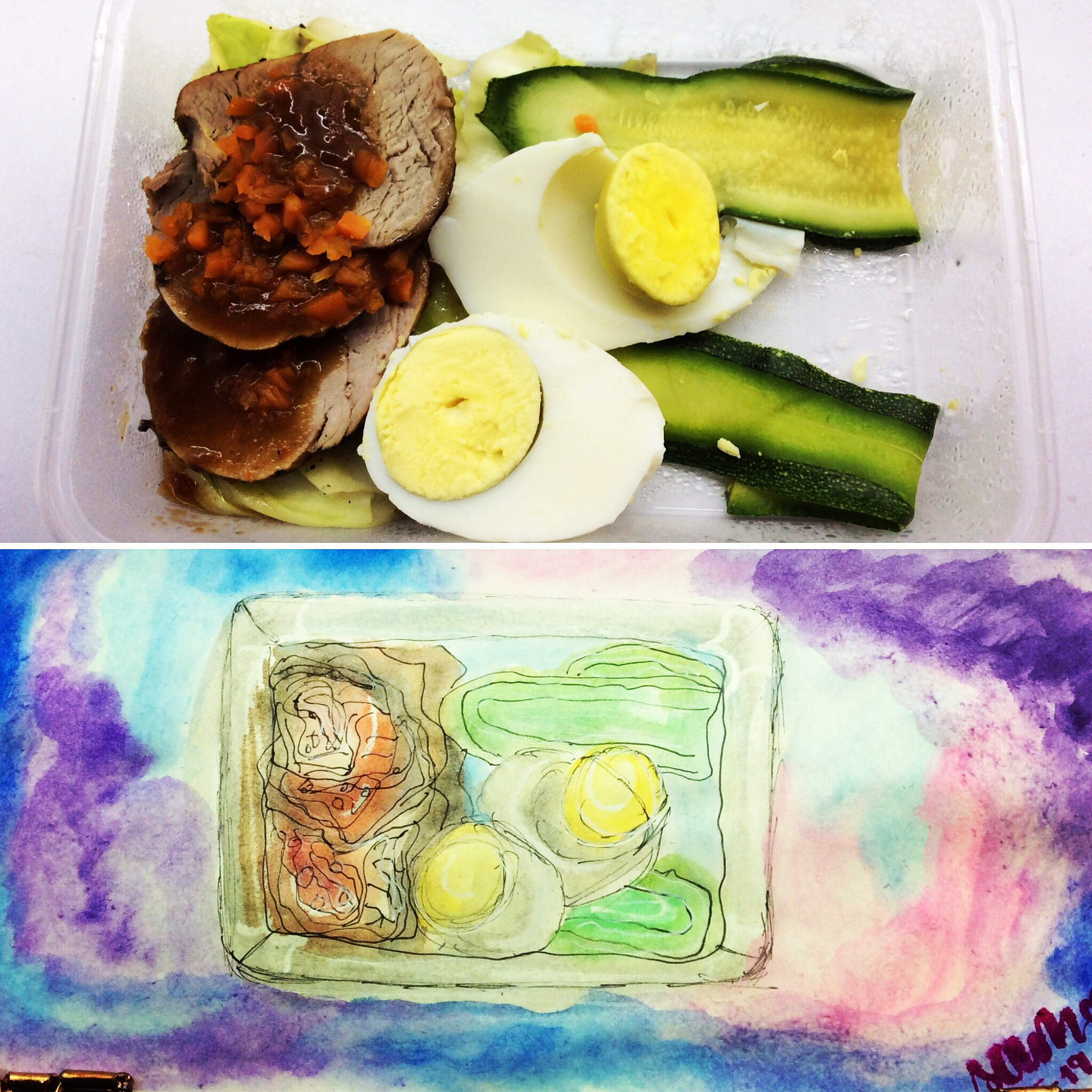 I painted my brekkie this morning as I savored each bite.