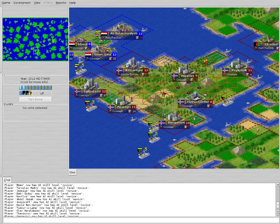 Screenshot of Freeciv