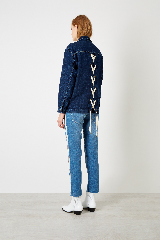 3 pack laces : Indigo Lace Back Organic Denim Jacket £215