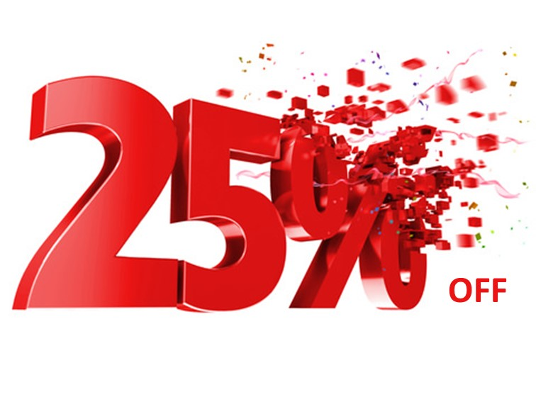 25% Off Gift Vouchers - Applies to vouchers €50+Redeemable on treatments onlyValid for 12 months from Jan 2019Cannot be used in conjunction with any other offer