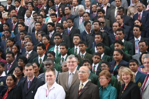 Just a small proportion of the 3800 students and teachers at the 2011 convention held at Lucknow representing over 24 countries