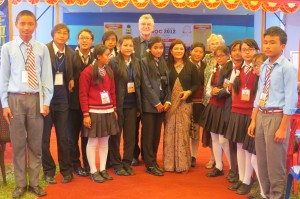 David and Margaret Hutchins participating in the Nepal National event in 2012. there are 28000 children involved in the Quality Circles movement in Nepal