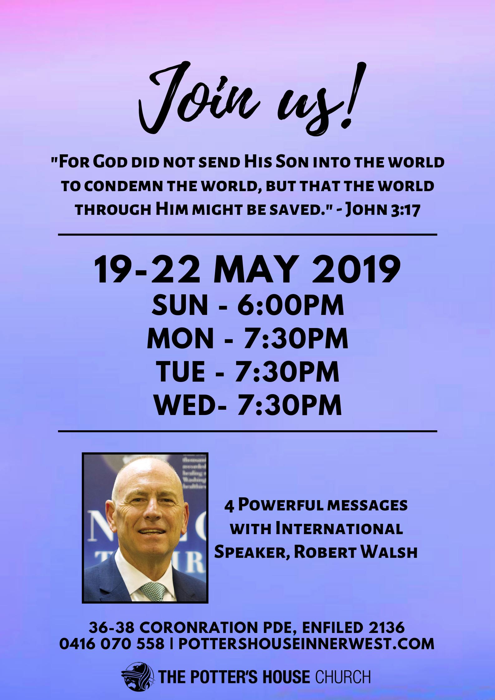 Pr Rob Walsh Revival - May 2019
