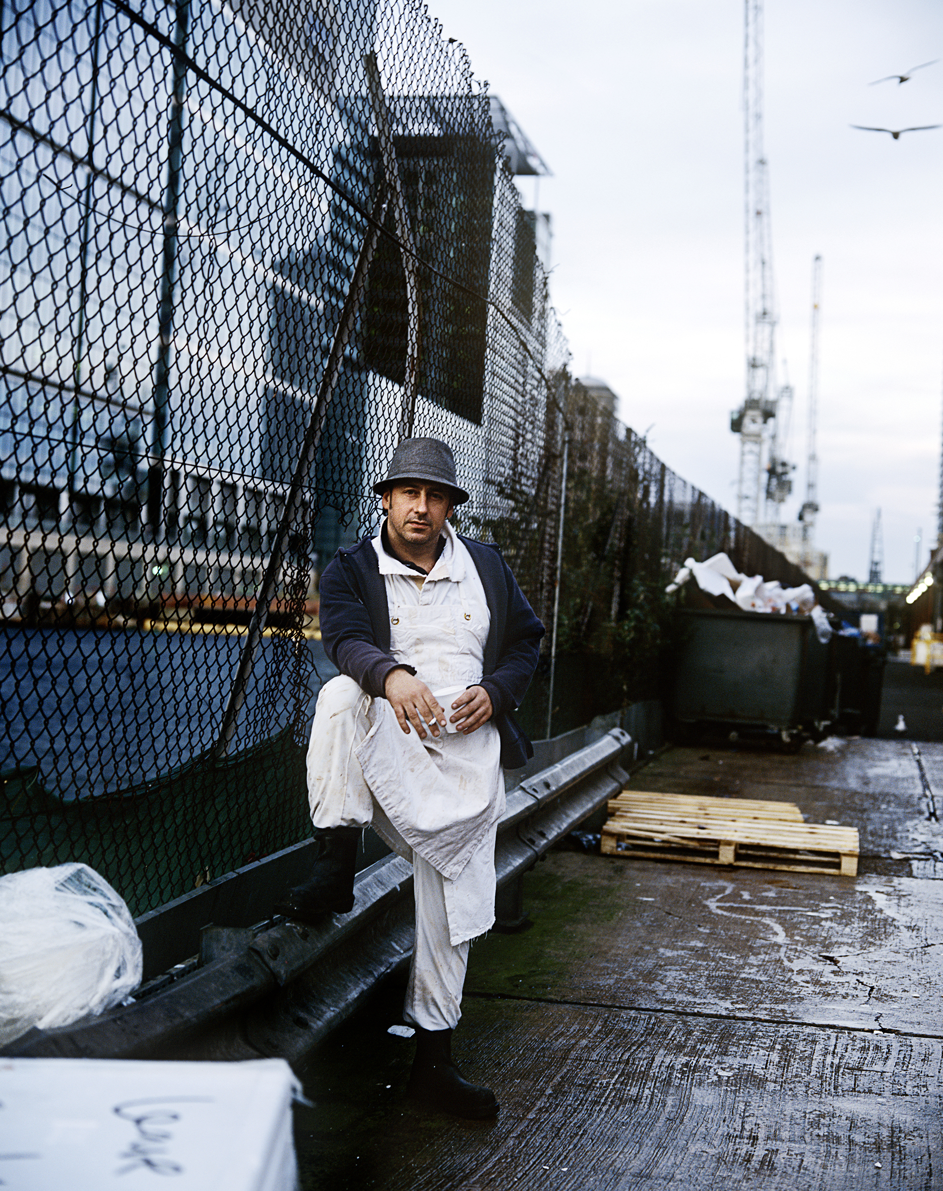 Martin Bicker, fish porter for 24 years.