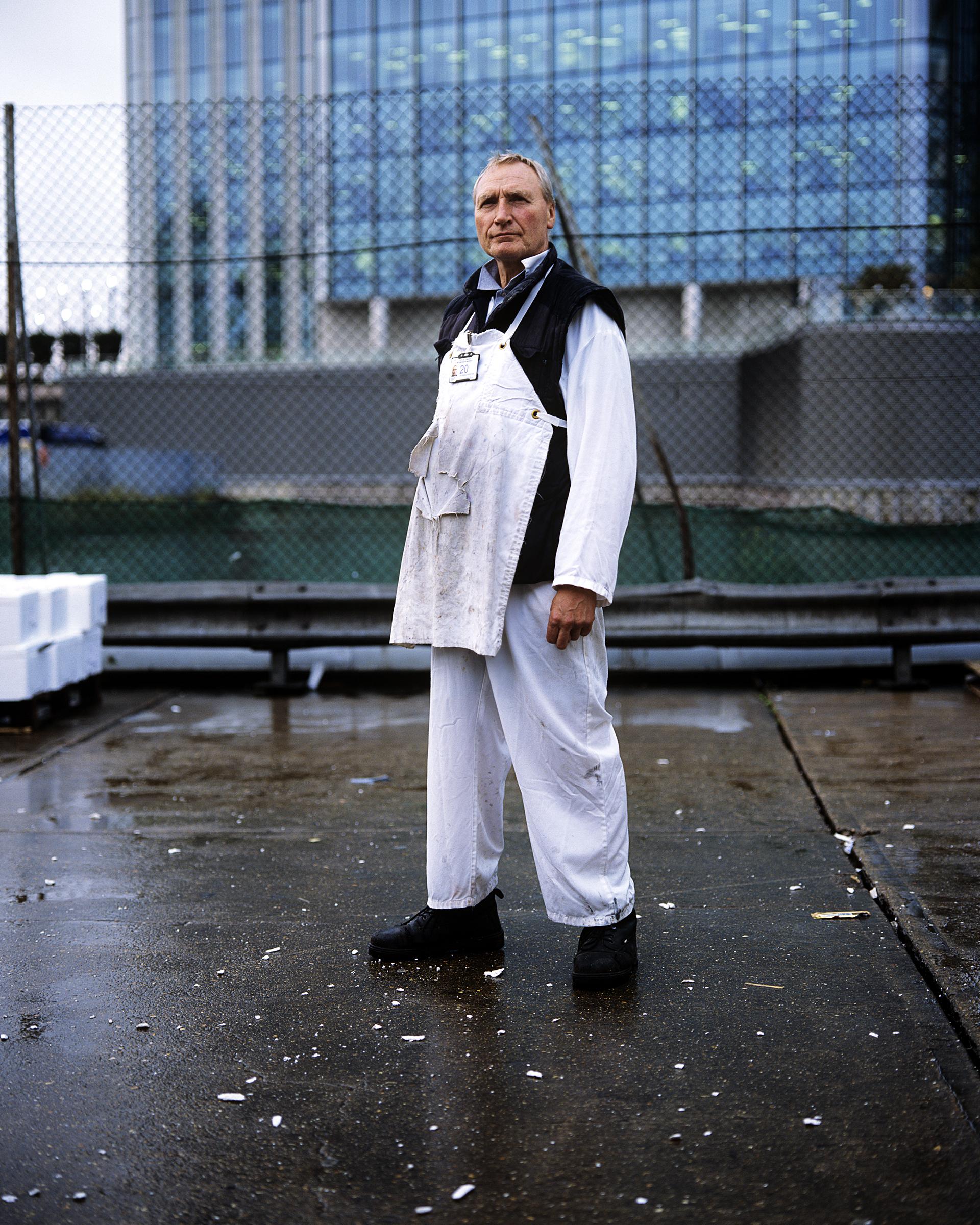 Steve Jones, fish porter for 30 years.