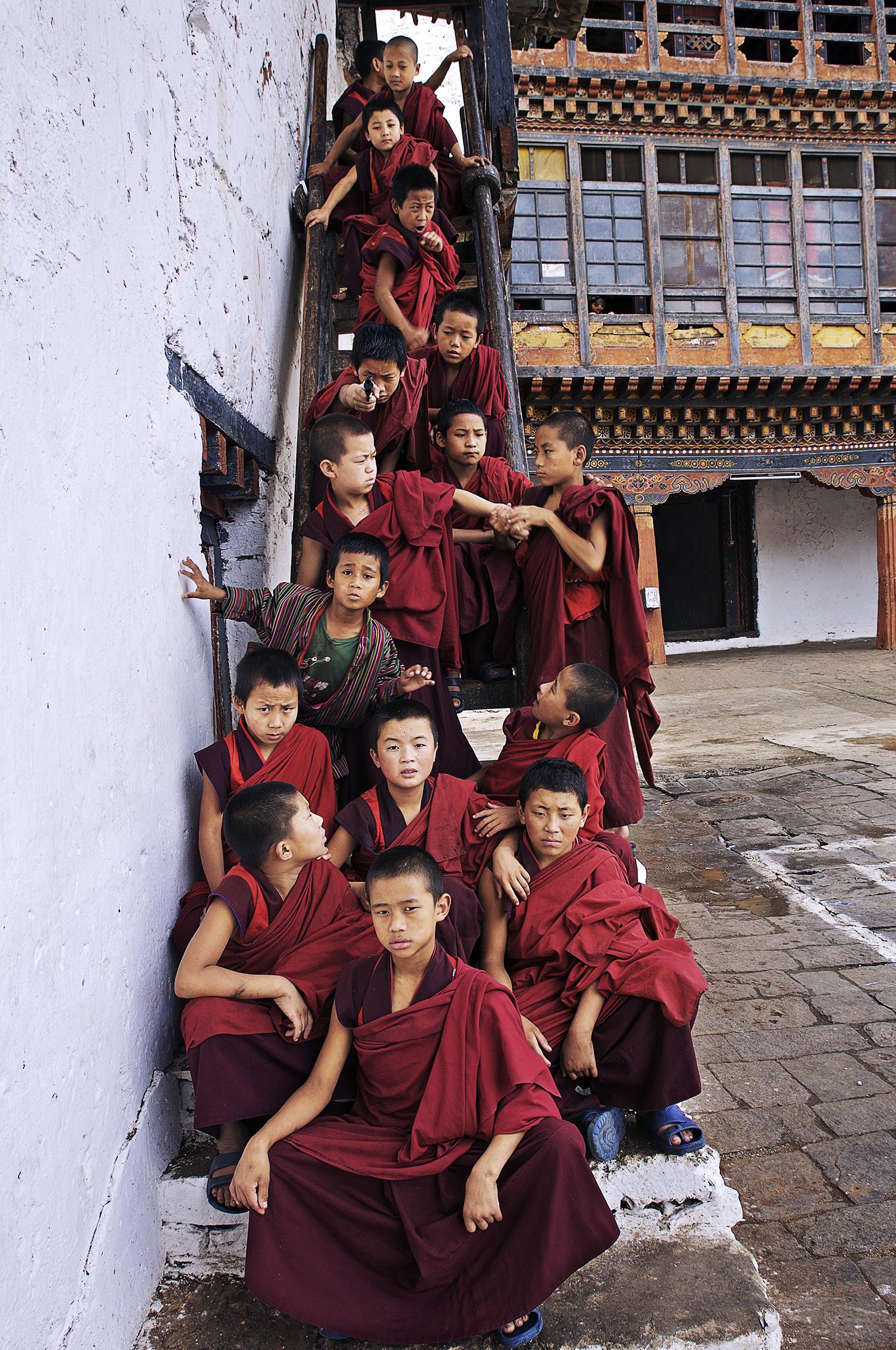 Web_Bhutan 2007 _ Monks on stairs.jpg