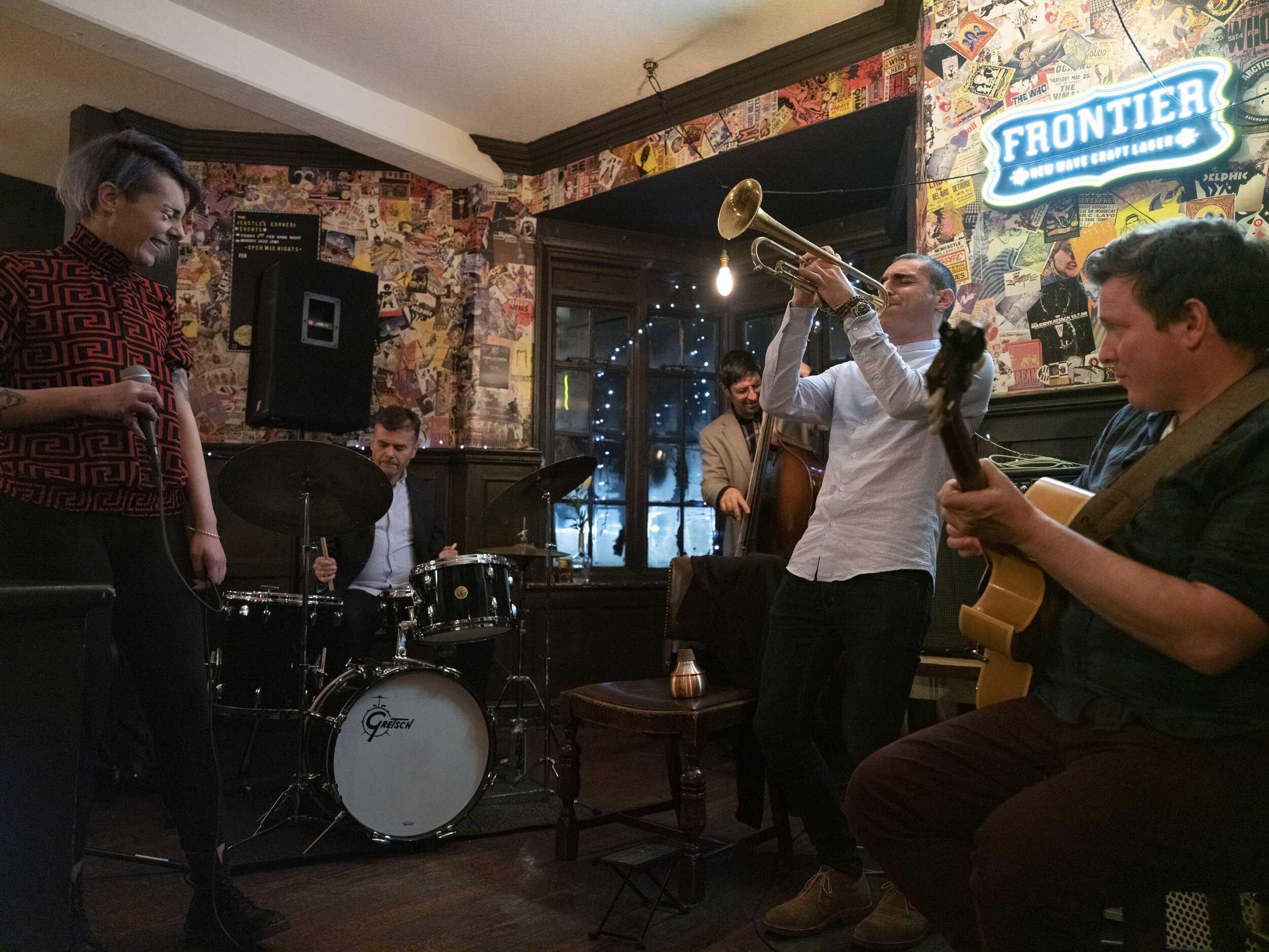BUMTUNE _Brexit No-Deal & Muscians _Alex Ottaviano_Trumpeter _North Acton _playing a Jazz jam session at The Castle with fellow muscians_details attached_11-06-2019_Claudia Leisinger__CLP2133_Claudia Leisinger.jpg