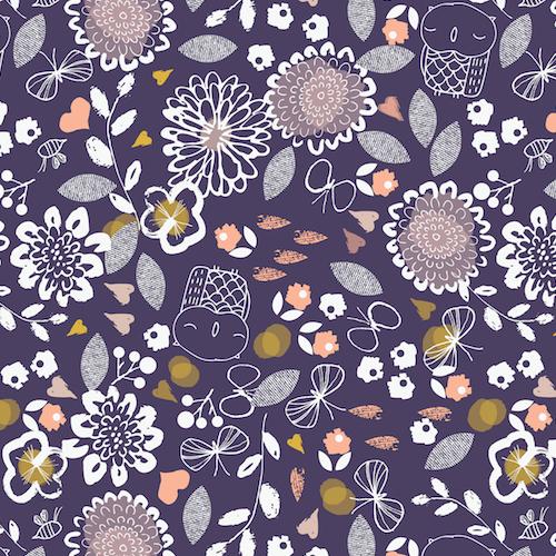 AURA 1273 - Owl & Flowers