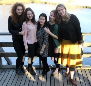 Komandā darbojās Ineta, Kristiāna, Linda, Māra, Anna