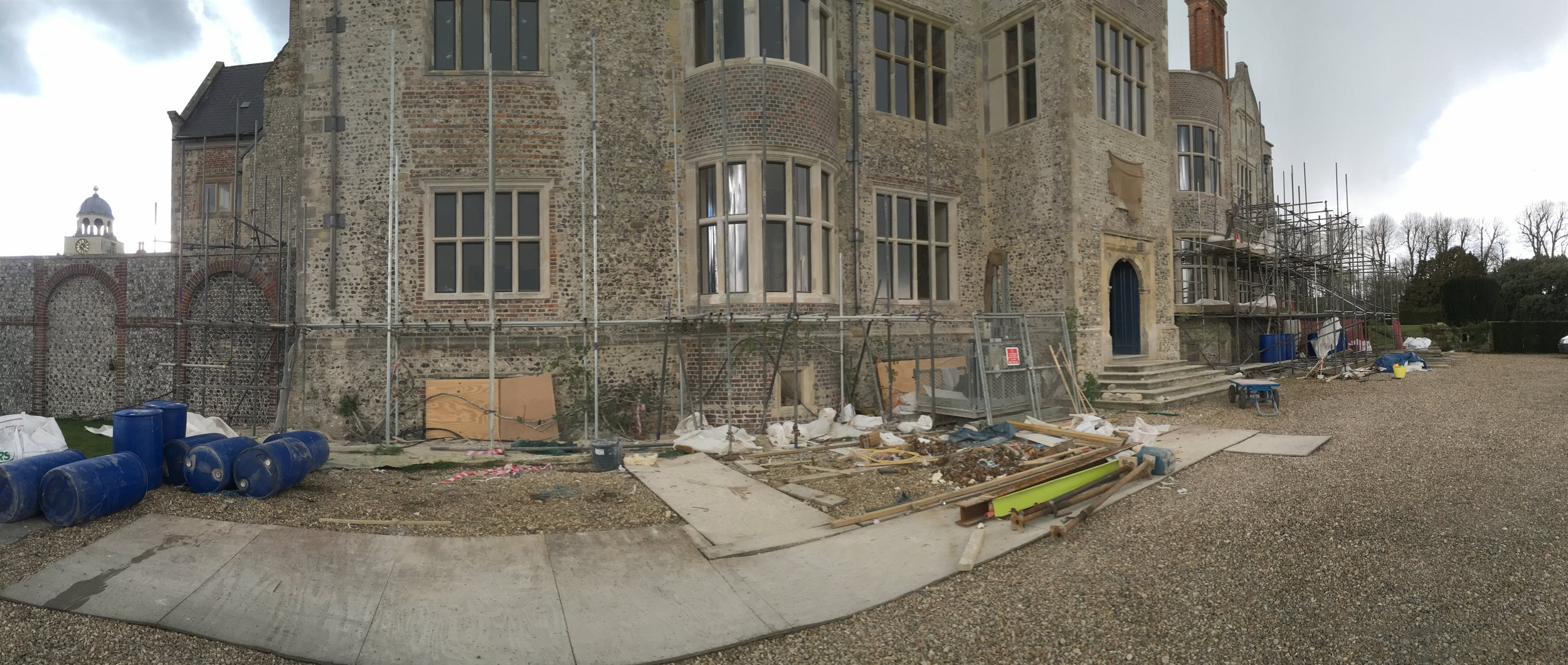 Glynde Place - Phase II - Post works, scaffolding coming down.jpg