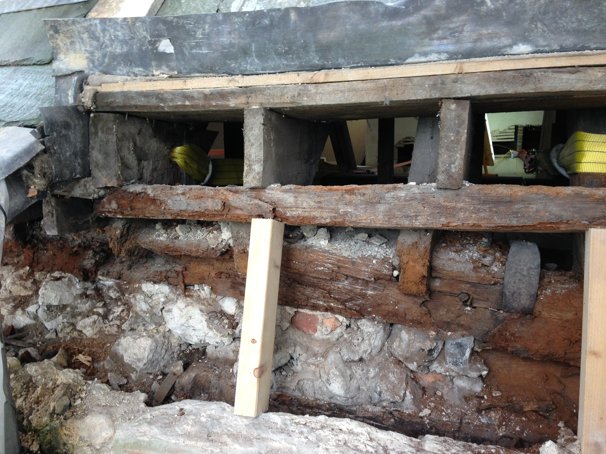 Glynde Place - Phase II - Before wall plate restoration 2015.JPG