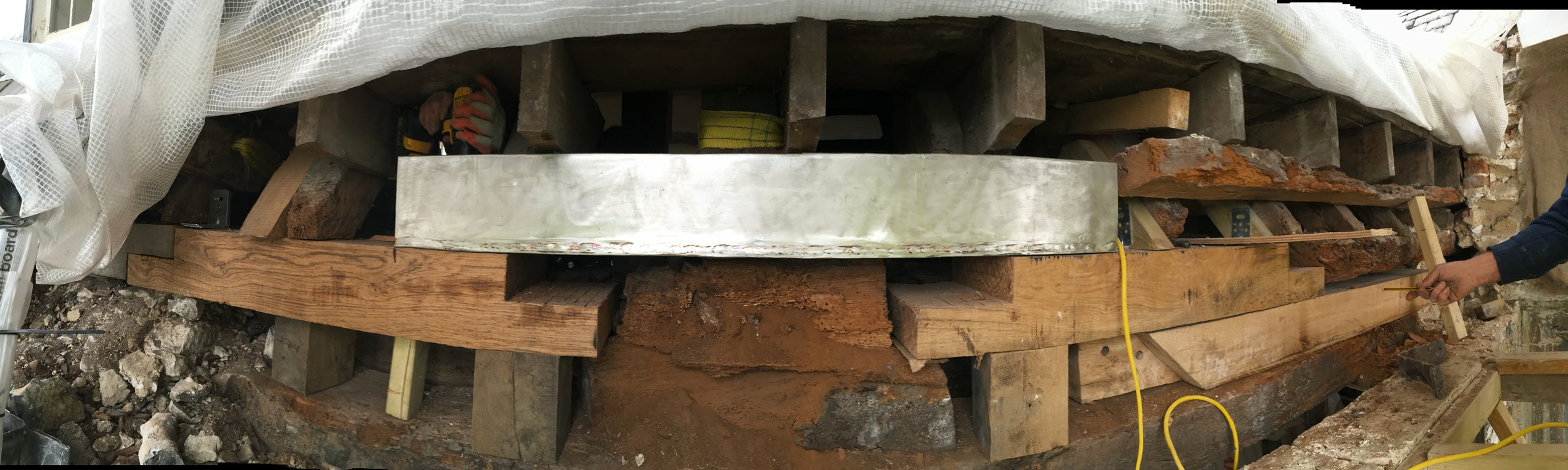Glynde Place - Phase II - Wall plate being replaced.JPG