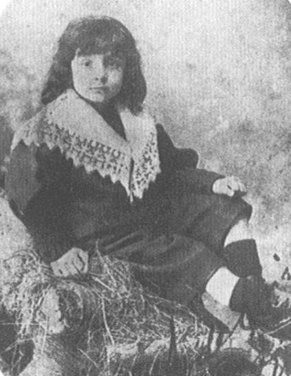 Alberto Savinio as a child