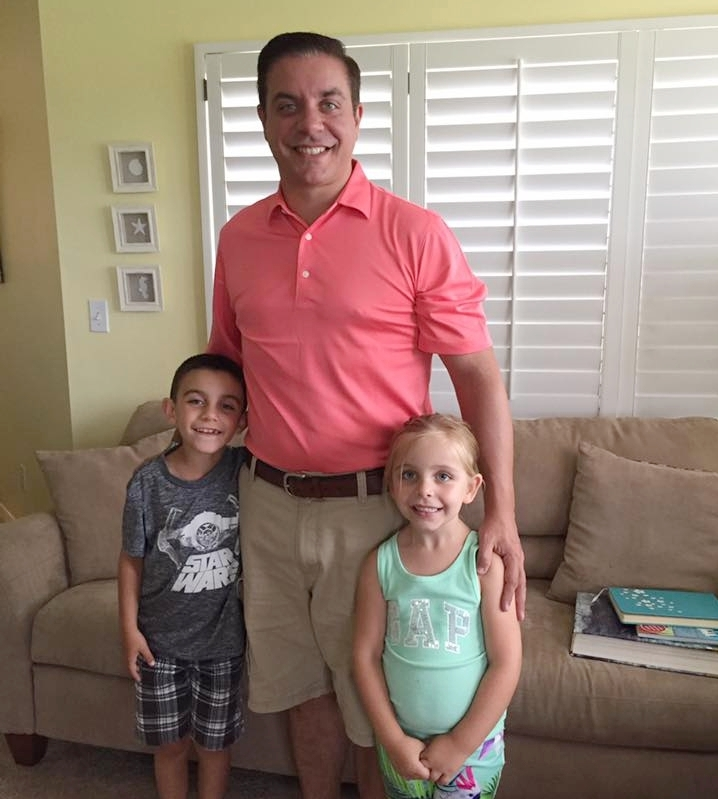 Joe Nugent, Owner of Joe the Home Pro, pictured with his kids.