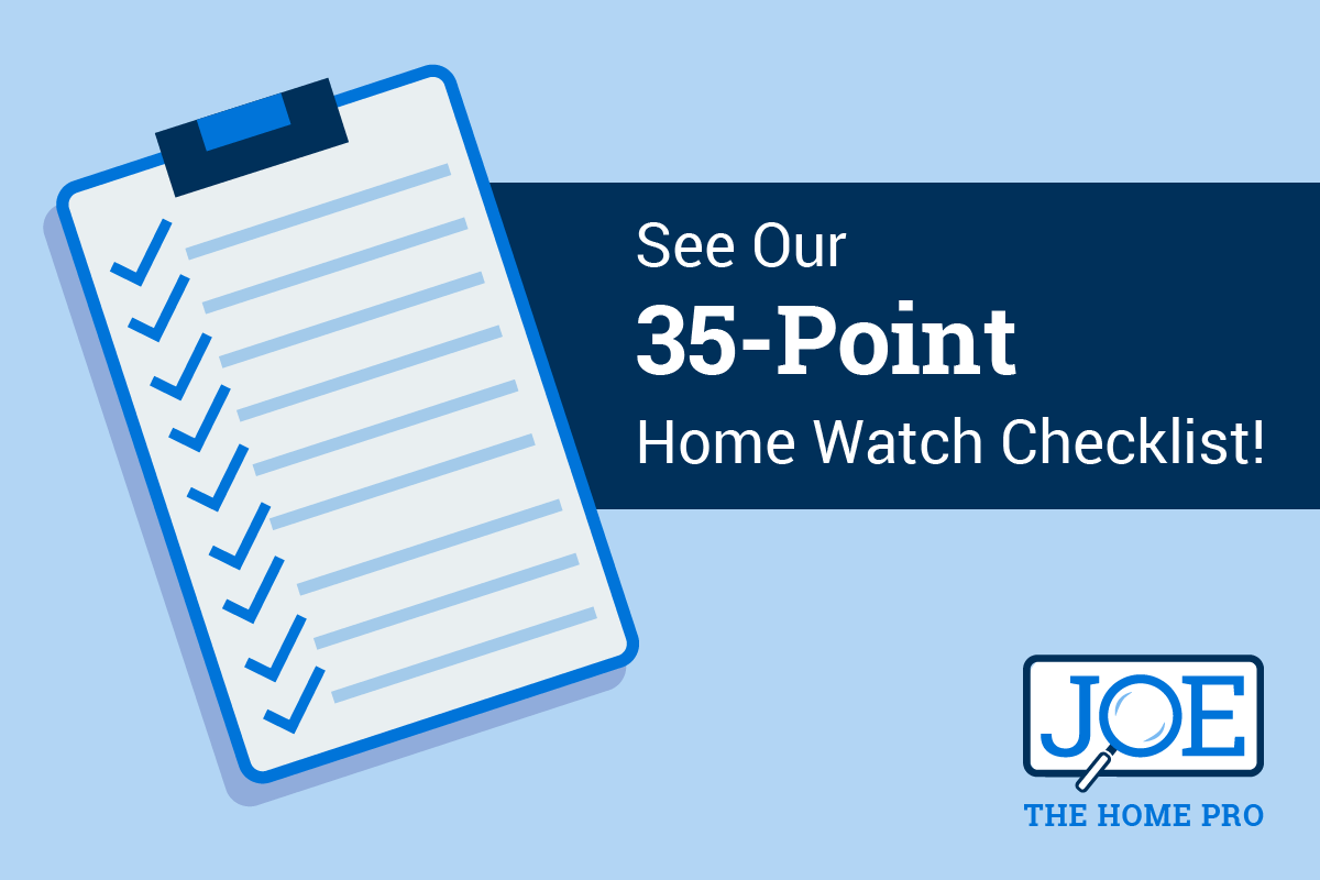 Graphic: Joe the Home Pro 35-Point Home Watch Checklist.