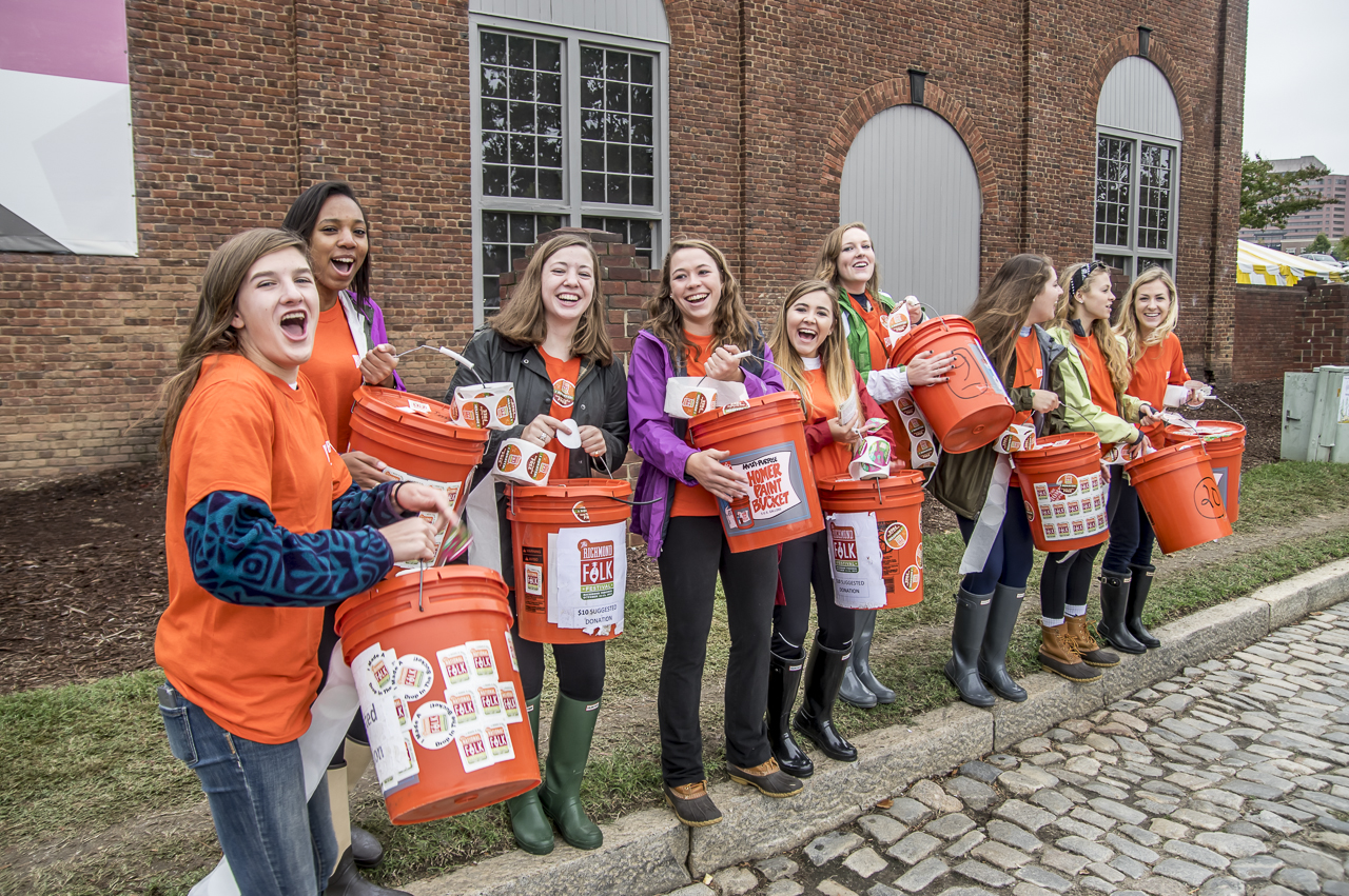 The Bucket Brigade is a great job or teens that need to earn volunteer hours for school. Or for adult groups looking to contribute to their community.