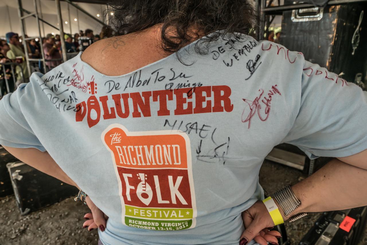 Volunteer T-shirts make great mementos of a fun weekend.