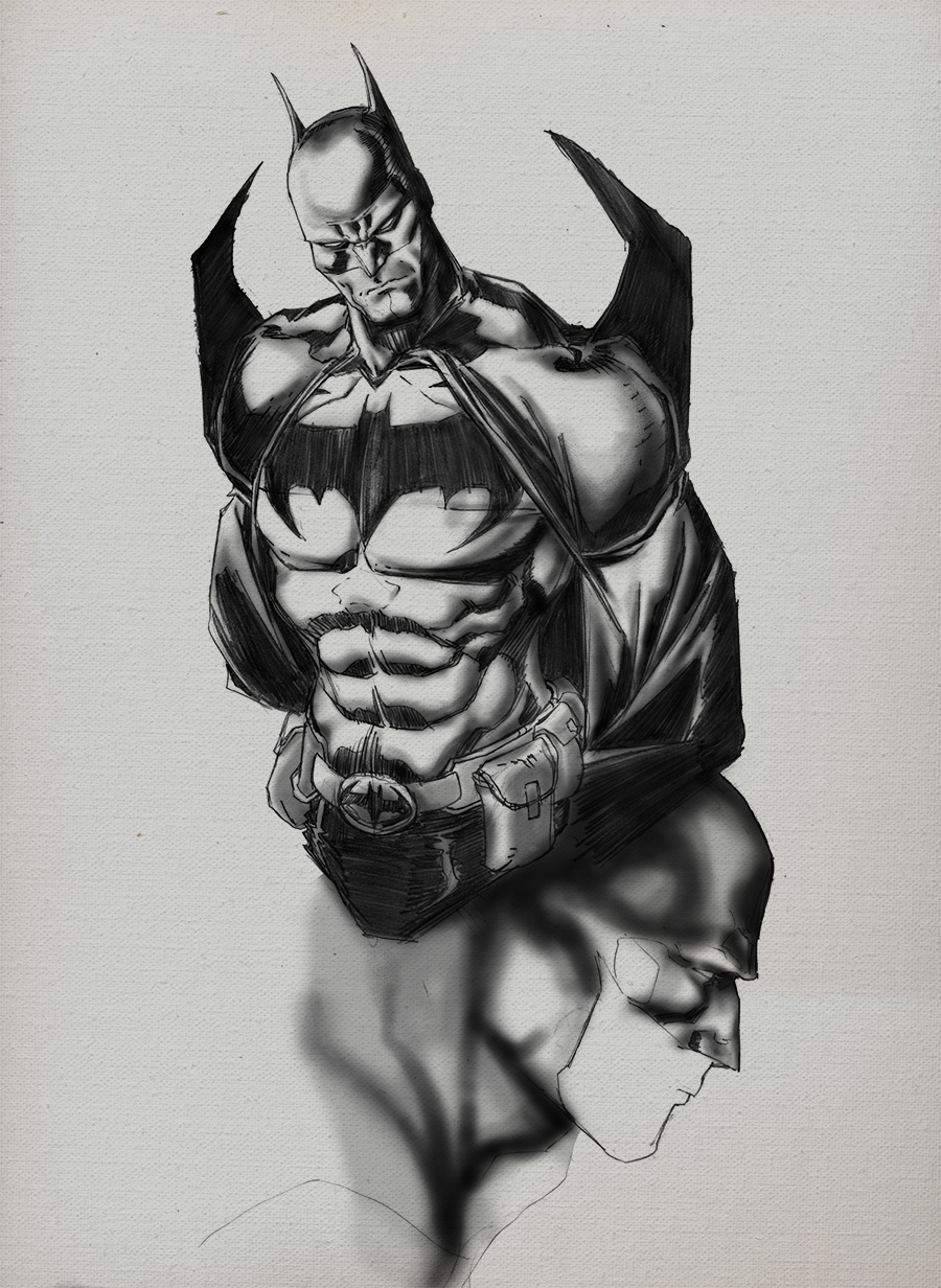 Batman sketch 1 BW lo res.jpg