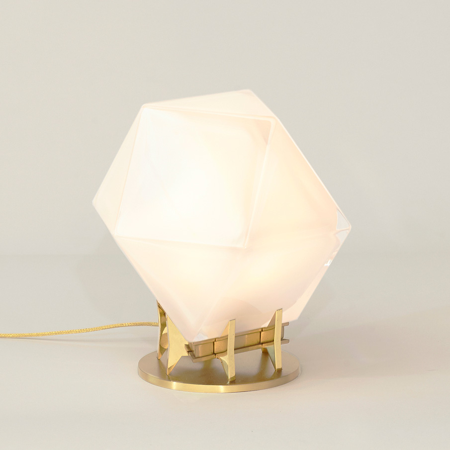Welles Double Blown Glass Desk Lamp by Gabriel Scott