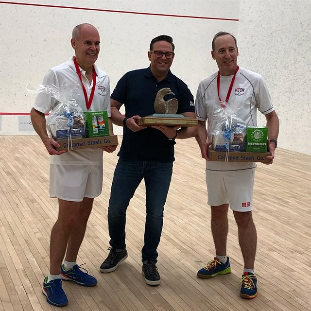 And the Canadian Squash Doubles Champions are.... #sponsor #cffhp #musclecare #presentation #awards #work #sweat #toronto #canada #proud @graniteclub @squashcanada