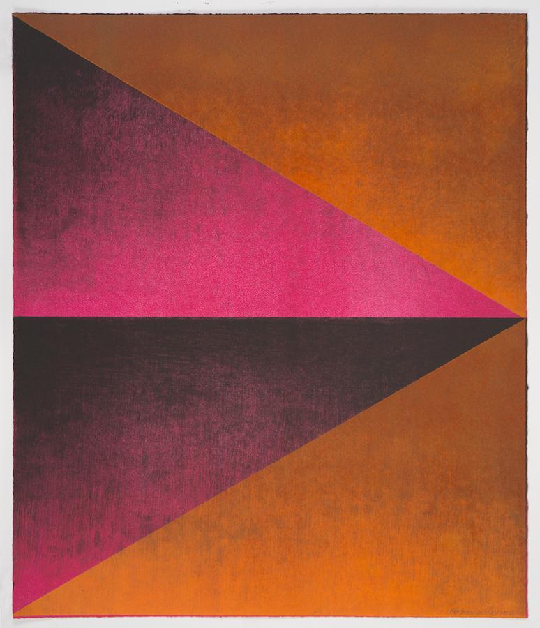 "Kate Petley and Manneken Press,  Overture 2,  monoprint, 24.5"" x 21"", 2018. Photo courtesy of the artist"