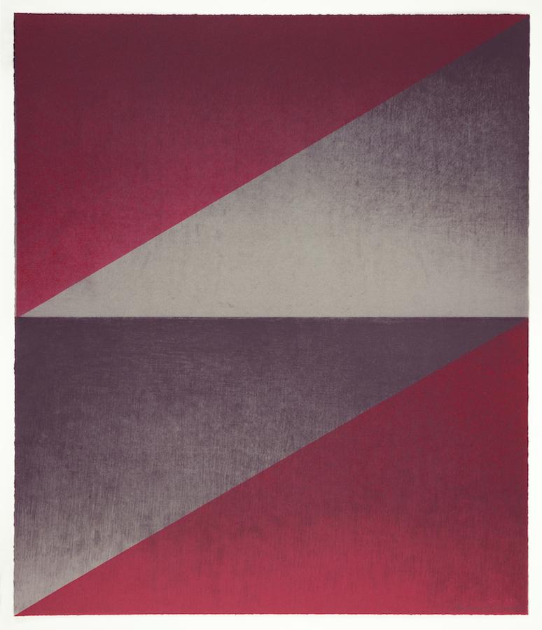 "Above: Kate Petley and Manneken Press,  Overture 5 , monoprint, 24.5"" x 21"", 2018. Below: Kate Petley and Manneken Press,  Overture 18 , monoprint, 21"" x 21"", 2018. Photos courtesy of the artist"