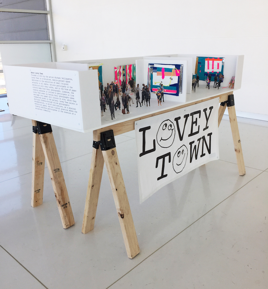 Lovey Town,  Gyan Shrosbree  solo exhibition, October 2017. Photo courtesy of the artist