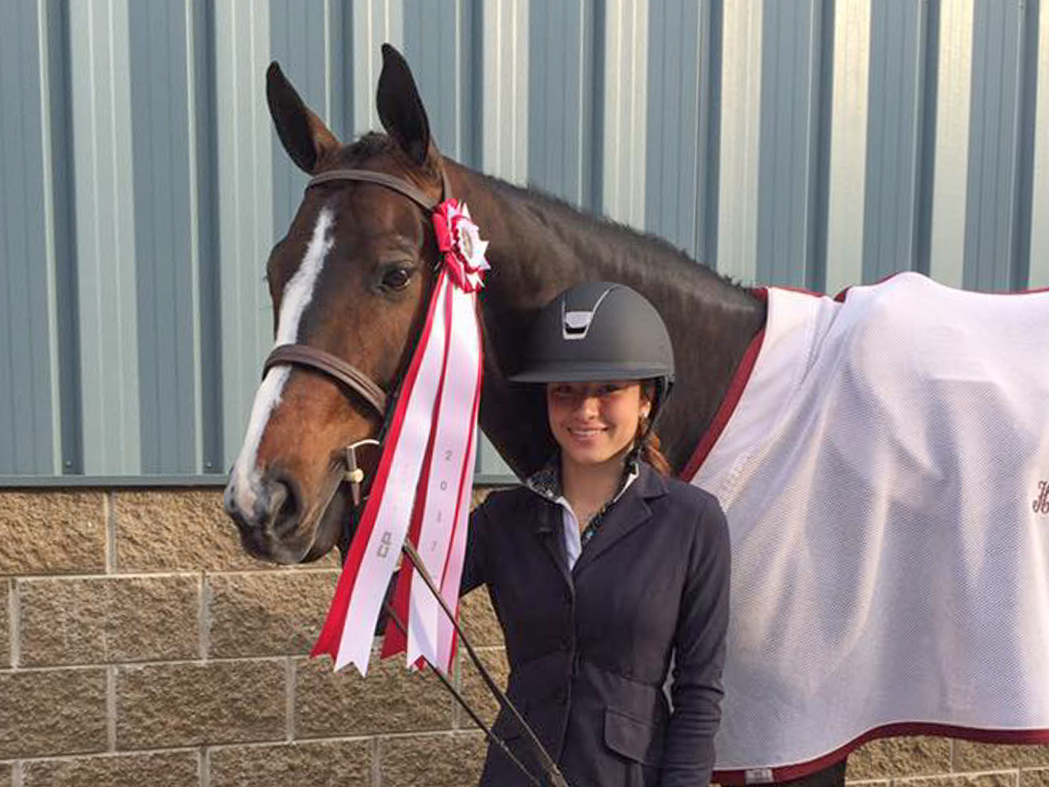 Thea Bitar and LPF Woodford at the National Horse Show