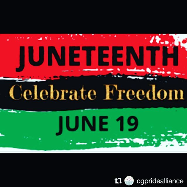 #Repost @cgpridealliance with @get_repost ・・・ For the last 50 years June has been celebrated as Pride Month for LGTBQAI+ people. However, there is another holiday celebrated in June, Juneteenth! June 19 1865 is celebrated as the day slavery ended in the US. Although President Lincoln signed the Emancipation Proclamation in Jan of 1863 slaves in Texas were not informed until June 19th 1865. Although we have a ways to go, Juneteenth is an important part of US history and today we celebrate!  #ushistory #jumeteenth