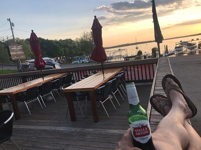 We are Happy to Announce that our Summer Hours have finally arrived.  Open 7 Days a week! Mon - Fri 11am-9pm Sat & Sun 10am - 9pm Bar Open Late! Brunch 10a-2p Sat & Sun!  #picforattention #formationcomplete #stellaartoise #sunset #lakegenevalife #lakelife