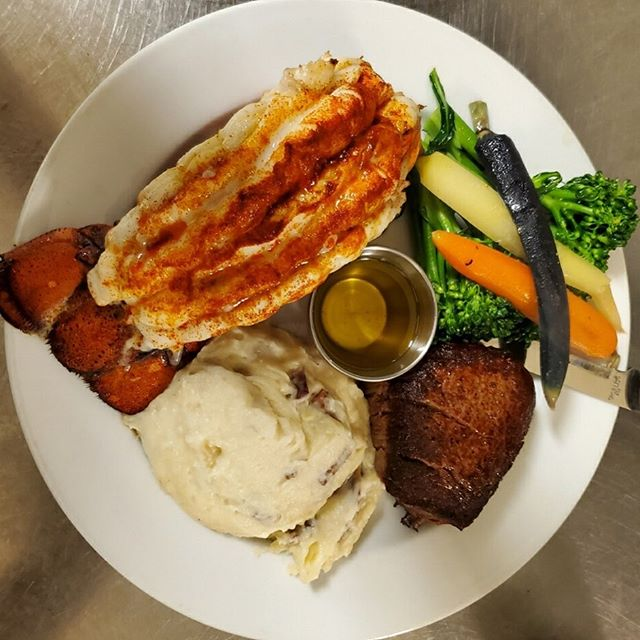 We're Happy to Announce that our Food and Beverage Menu's are posted ACCURATELY on our website!  Pic for Attention... Here's our Surf n' Turf- 8oz Filet, 8oz Tail, Garlic Mash & Seasonal Vegetable  www.theboathouselakegeneva.com